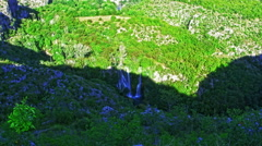 Manojlovac waterfall Krka river Stock Footage