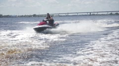 Man on jet ski acrobatic in slow motion 3 Stock Footage