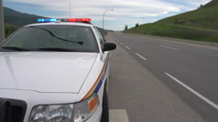 RCMP police car at accident scene, #2 Stock Footage
