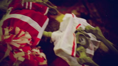 dead cheerleader horror movie cheesy - stock footage