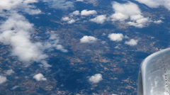 Clouds from the airplane Stock Footage