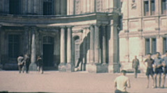 Blois 1949: the castle courtyard Stock Footage
