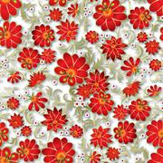 Abstract seamless floral ornament Stock Illustration