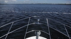 Yacht front POV on ocean 2 Stock Footage
