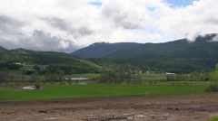 Shuswap river valley, springtime Stock Footage