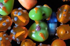 murano glass stones - stock photo