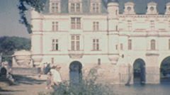 Château de Chenonceau, 1949: view of the building Stock Footage