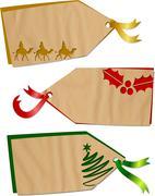 Christmas Holiday Tags - stock illustration