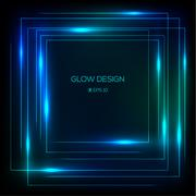 Vector tech design glowing frame Stock Illustration