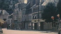 Vendôme 1949: people walking in the street Stock Footage