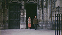 Vendôme 1949: abbey-church of the Holy Trinity Stock Footage