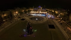 Ice park in the center of Zagreb Stock Footage