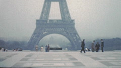 Paris 1949: eiffel tower Stock Footage