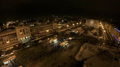 Main train station in the center of Zagreb Stock Footage