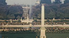 Paris 1949: people walking in the park Arkistovideo