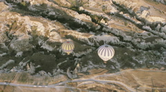 greatest tourist attraction of Turkey, flight with balloons over Cappadocia  Stock Footage