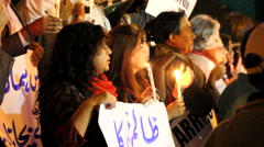 Protest against Peshawar Children massacre in Karachi Stock Footage