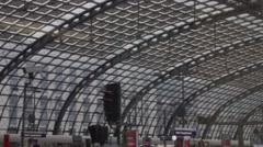 Hauptbahnhof Berlin Stock Footage