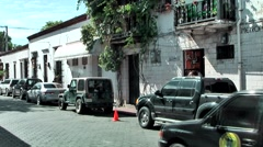 Dominican Republic Santo Domingo Caribbean Sea 034 street view in old town Stock Footage