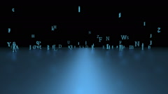 Letters And Alphabet Concept Stock Footage