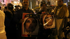 Protest against Peshawar Children massacre in Karachi Stock Footage