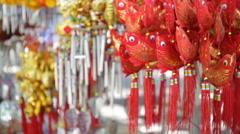 Orange Fish-shaped Mobile ornament Stock Footage