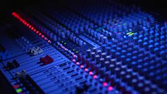 Remote Console of sound engineer at the concert Stock Footage