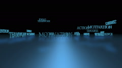 Business Success Words Concept Stock Footage