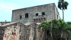 Dominican Republic Santo Domingo Caribbean Sea 048 House of Columbus backside Stock Footage
