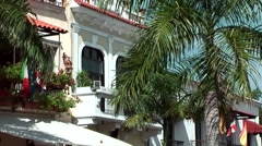 Dominican Republic Santo Domingo Caribbean Sea 044 colonial style house Stock Footage