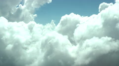Aerial video. Flying through the clouds. Stock Footage