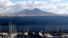 Italy, Naples vulcano Vesuvio - stock footage