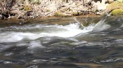 River breaker side view Stock Footage