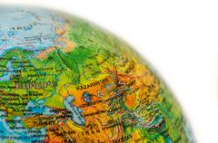 Some ware on world map Stock Photos