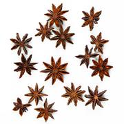 star anise, star aniseed, or chinese star anise - stock photo
