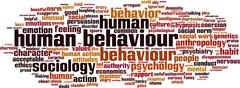 human behaviour word cloud - stock illustration