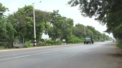 Stock Video Footage of Mandalay, street at country side