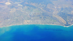 A aerial of san onofre creek and beach, california Stock Footage
