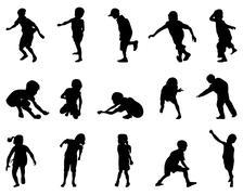 children - stock illustration