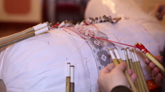 Lace in Russia. Production of handmade Stock Footage