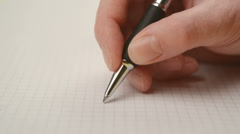 Female hand writing Stock Footage