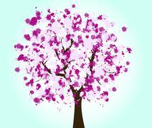 Stock Illustration of beautiful tree design background