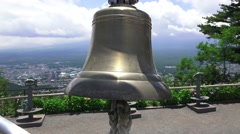 Ringing Good Luck Bell Mt. Kachi Kachi With Audio 4K Stock Footage
