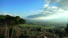 Tuscany landscape: countryside of Siena, Florence, Val d'Orcia Stock Footage
