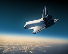 Space shuttle landing Stock Illustration