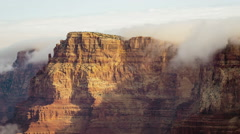 Grand Canyon Clouds over Cliff Stock Footage