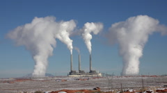 Page Arizona Navajo Generating electricity plant pollution HD 069 Stock Footage