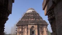 Ancient temple of the Sun God in Konark, Odisha, India Stock Footage