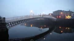 Dublin Quays at Dawn Stock Footage