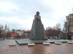 Monument of karl marx Stock Photos